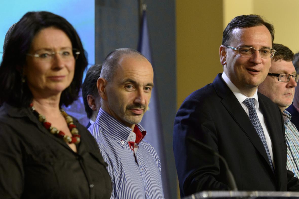 Petr Nečas, Martin Kuba a Miroslava Němcová