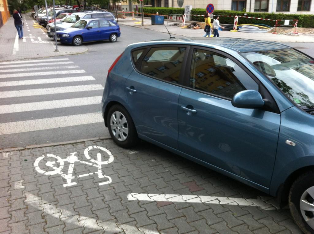 Ukázka parkování ze stránek Macho Parking