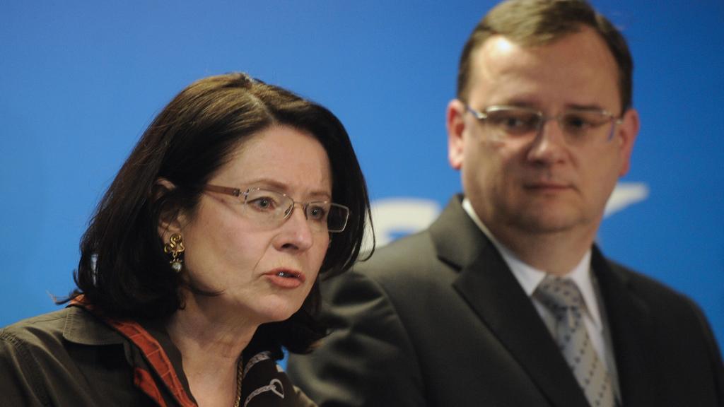 Miroslava Němcová a Petr Nečas