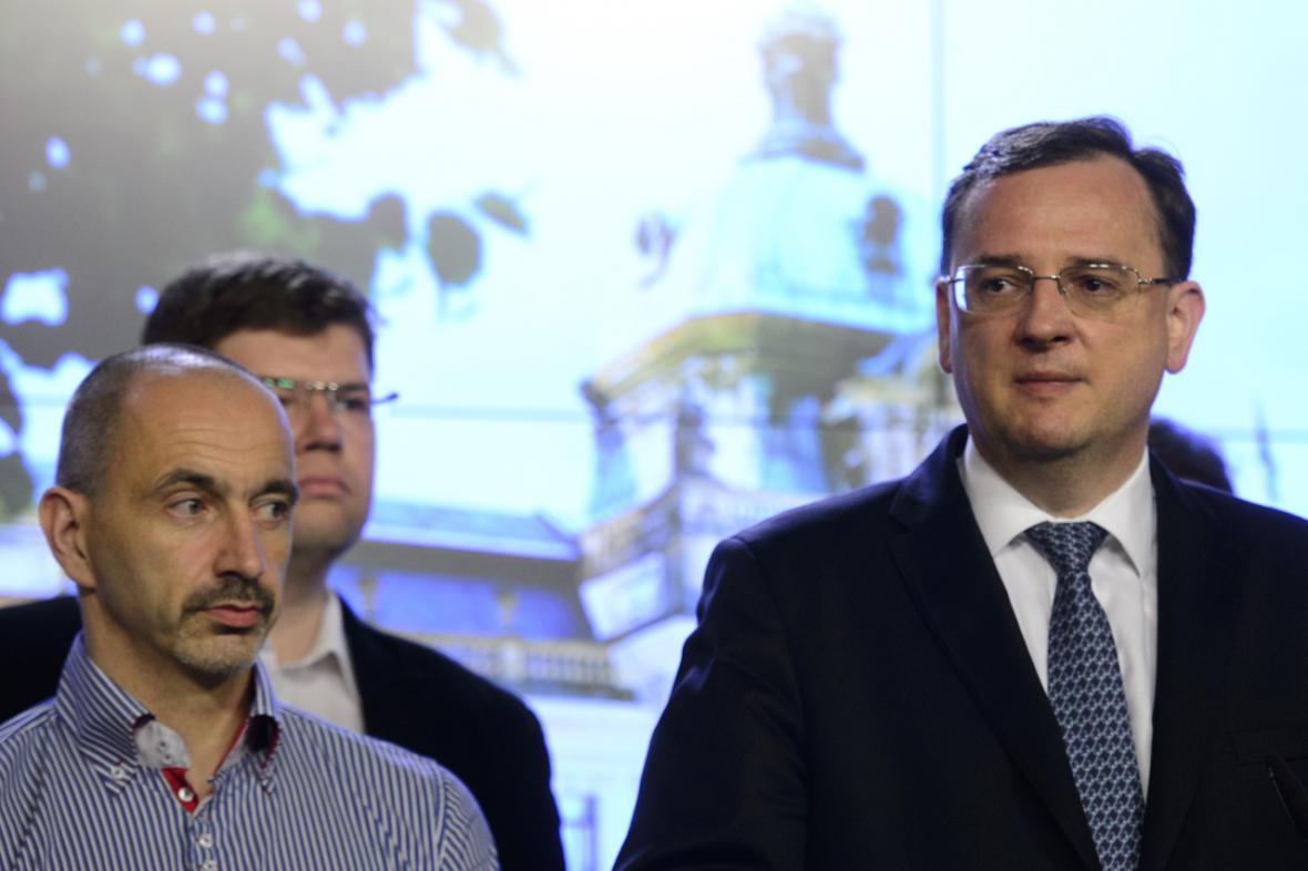 Petr Nečas, Martin Kuba a Jiří Pospíšil