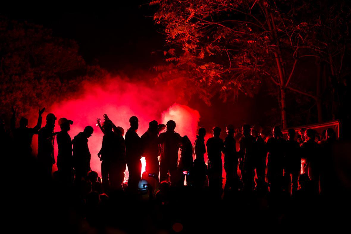 Demonstrace na Taksimském náměstí