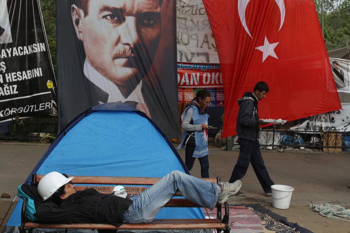 Istanbulský park Gezi