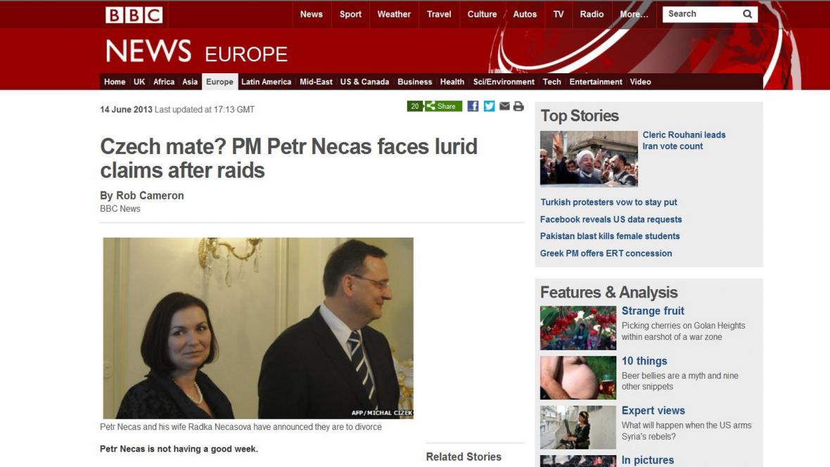BBC o české aféře