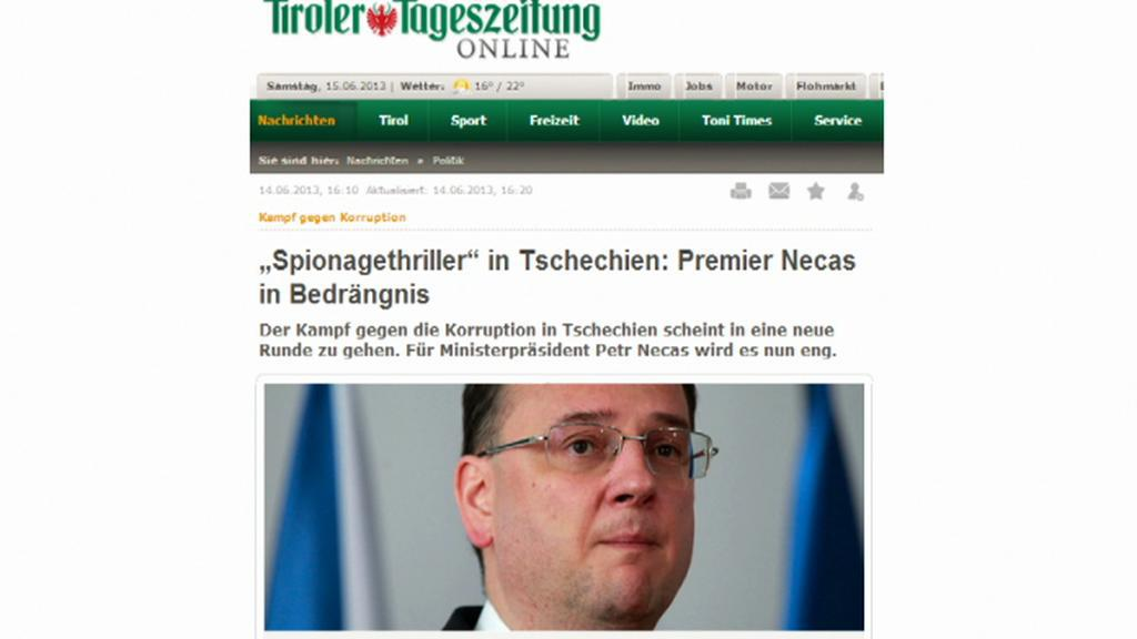 Zahraniční tisk o české aféře