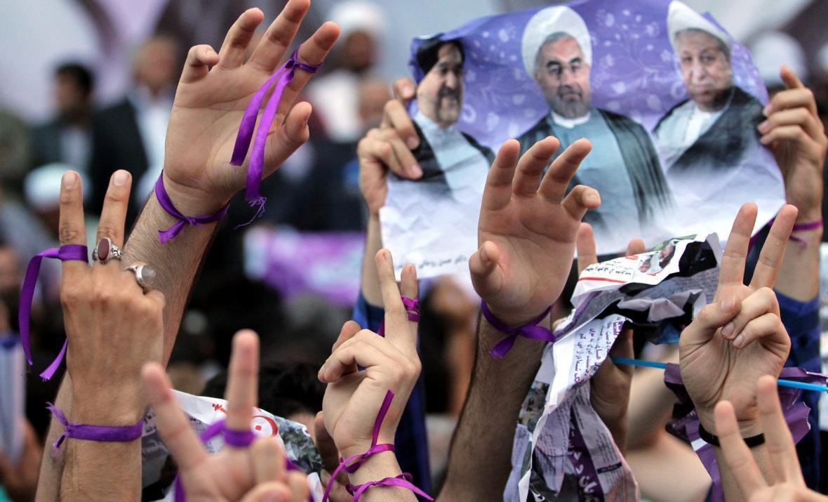 Volební mítink Hasana Ruháního