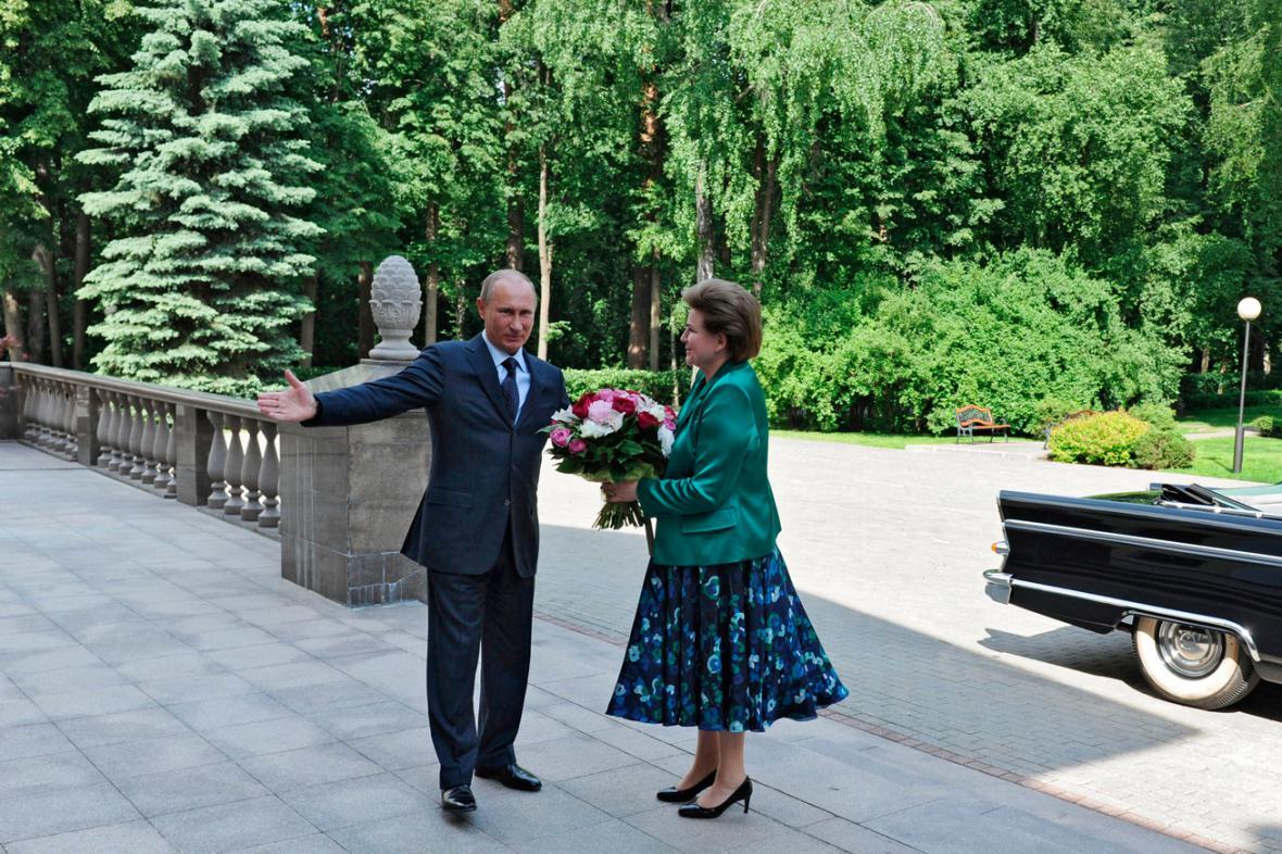 Vladimir Putin a Valentina Těreškovová