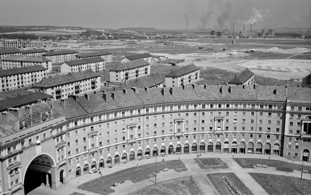 Ostrava Poruba v roce 1958