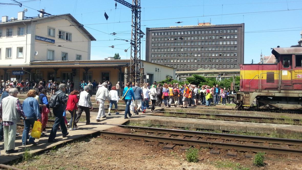 Ústecké západní nádraží je na hraně kapacity