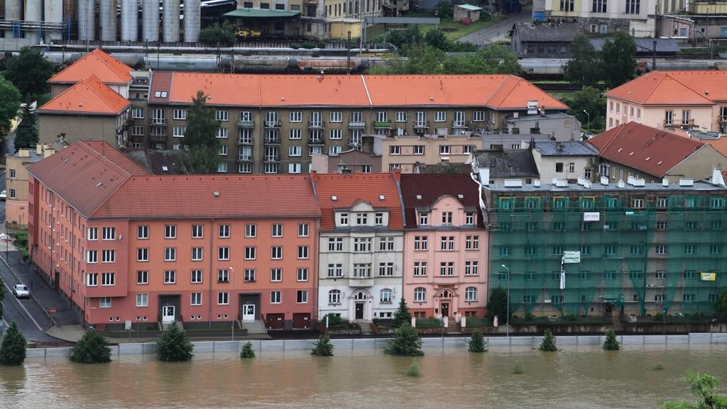 Protipovodňové bariéry v Ústí nad Labem-Střekově 4. 6. 2013
