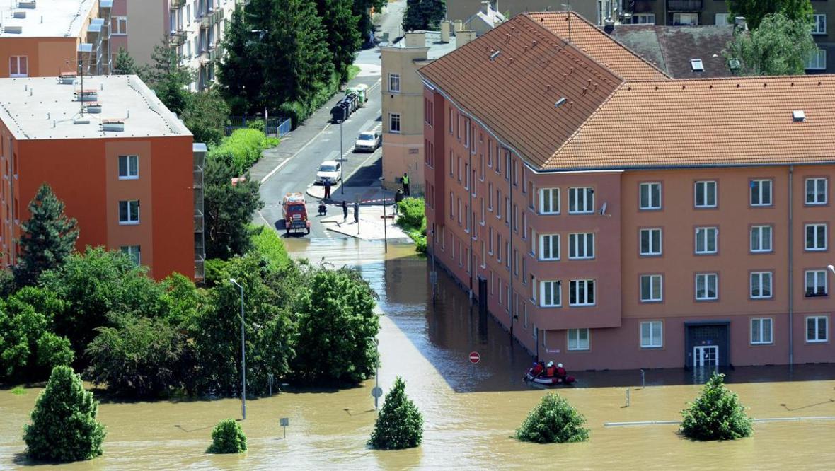 Velká voda v Ústí nad Labem