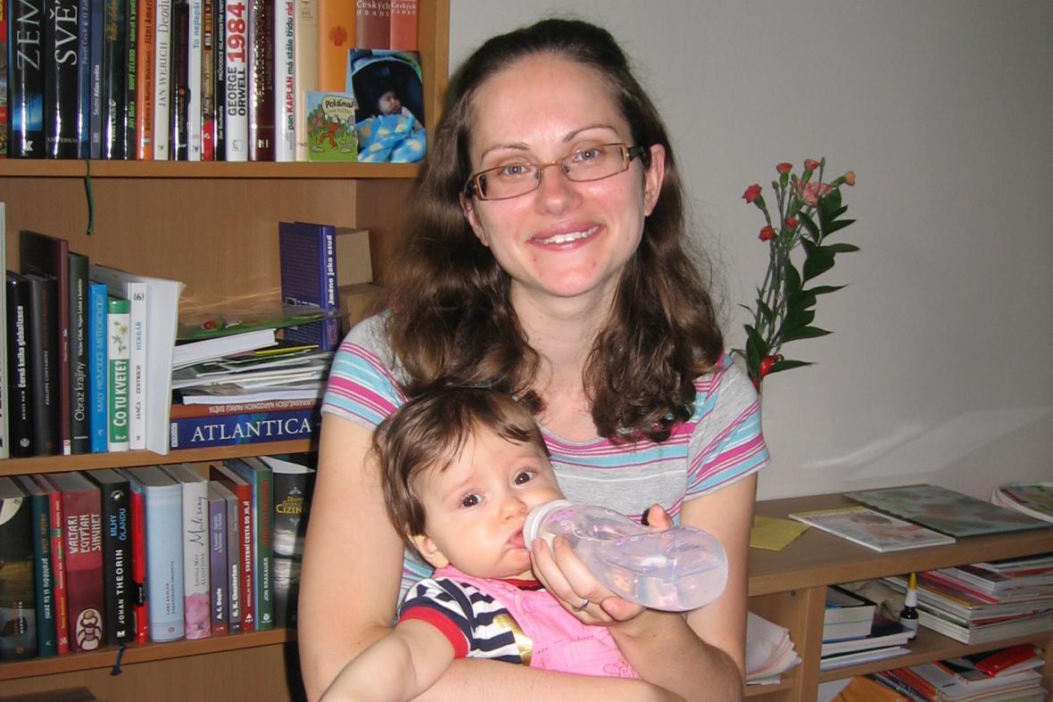 Veronika Skříčková s dcerou