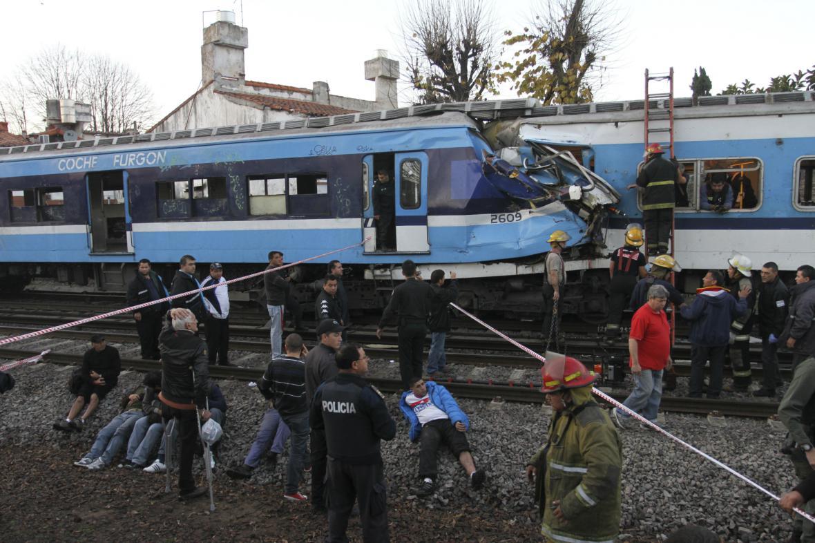 Srážka vlaků v Argentině
