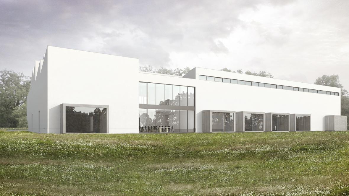 Výzkumná základna Mikulčice - vizualizace