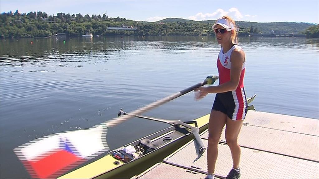V brněnských Lodních sportech začala Mirka Knapková s veslováním