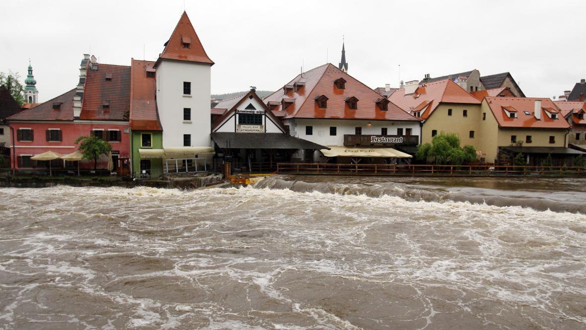 Český Krumlov (povodně - ilustrační foto)