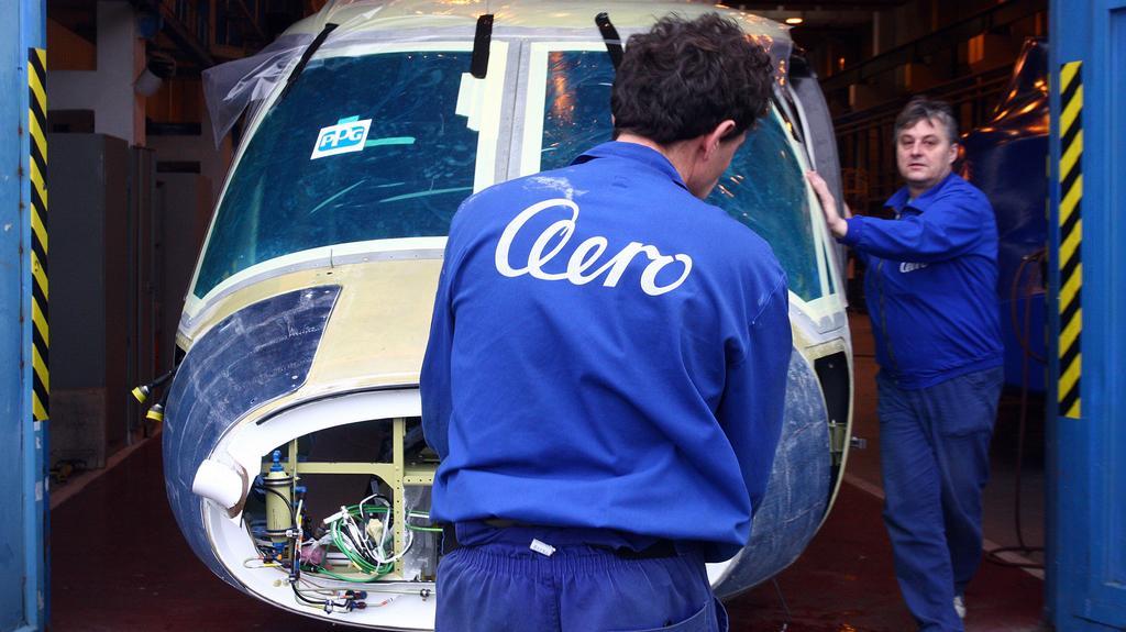 Výroba v podniku Aero Vodochody
