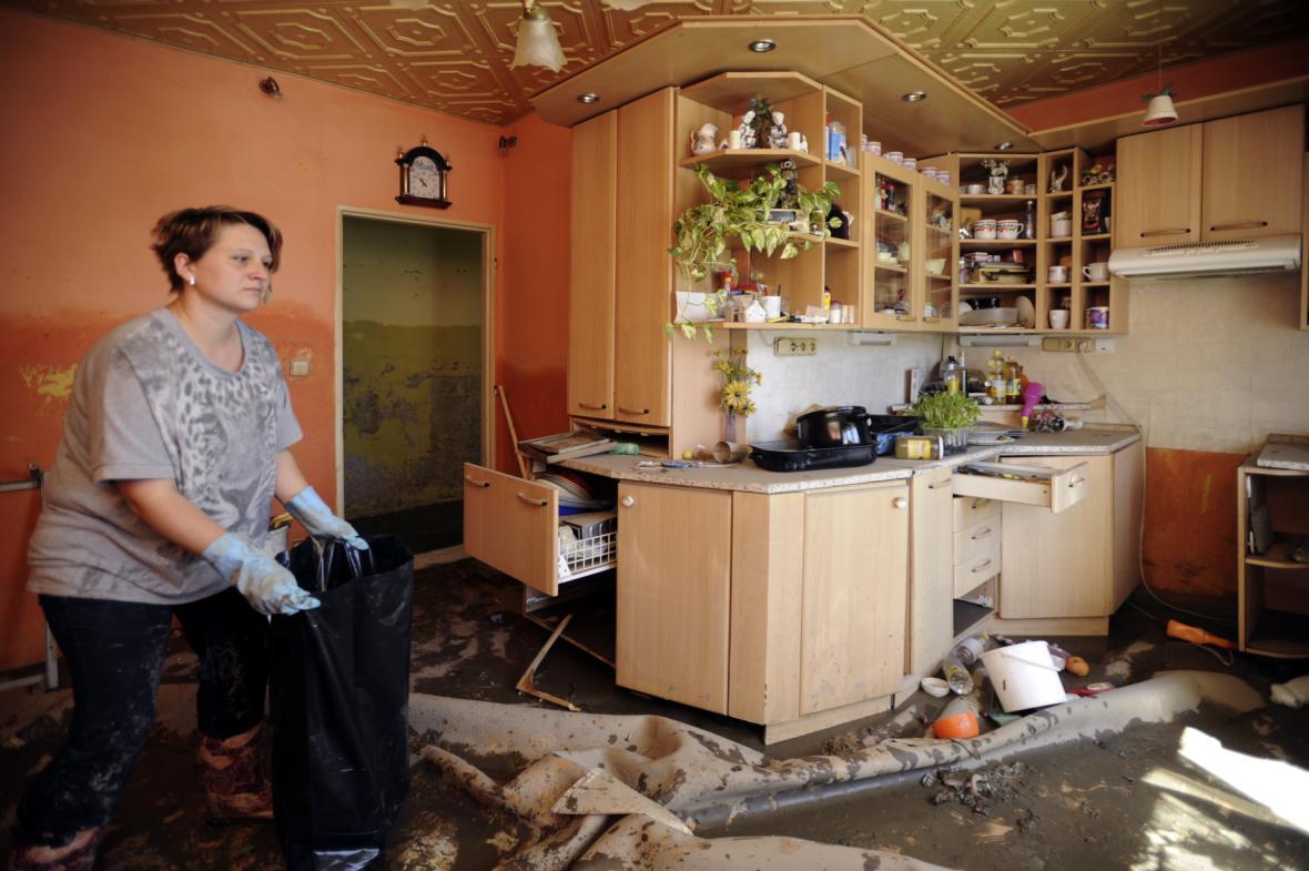 Zaplavený dům v Křešicích