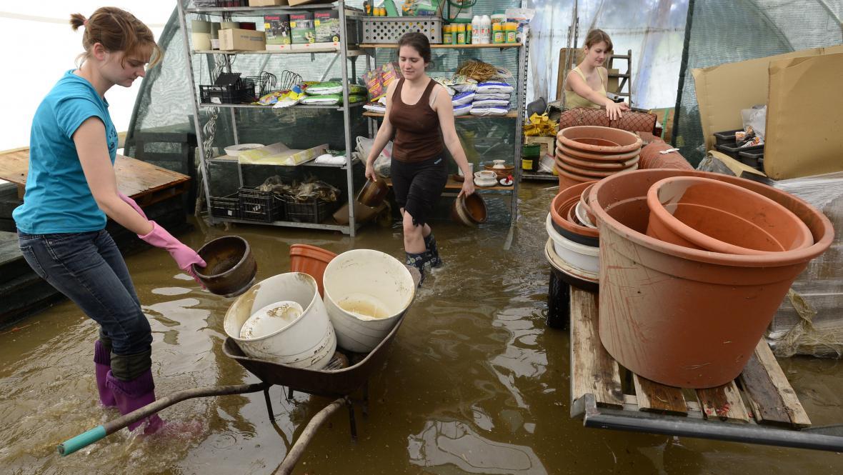 Úklid po povodni