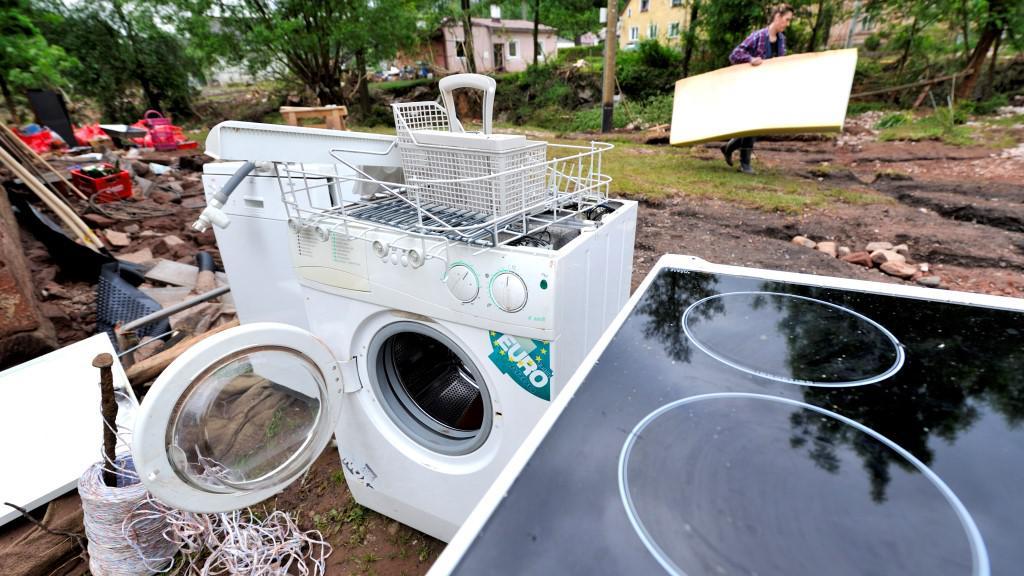 Spotřebiče zničené povodní