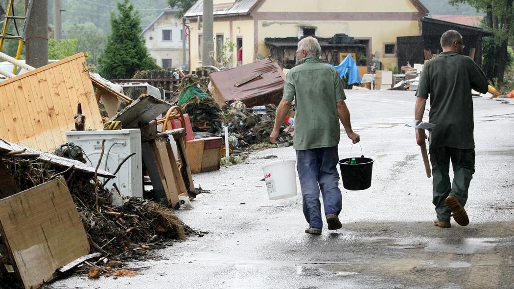 Úklid po záplavách