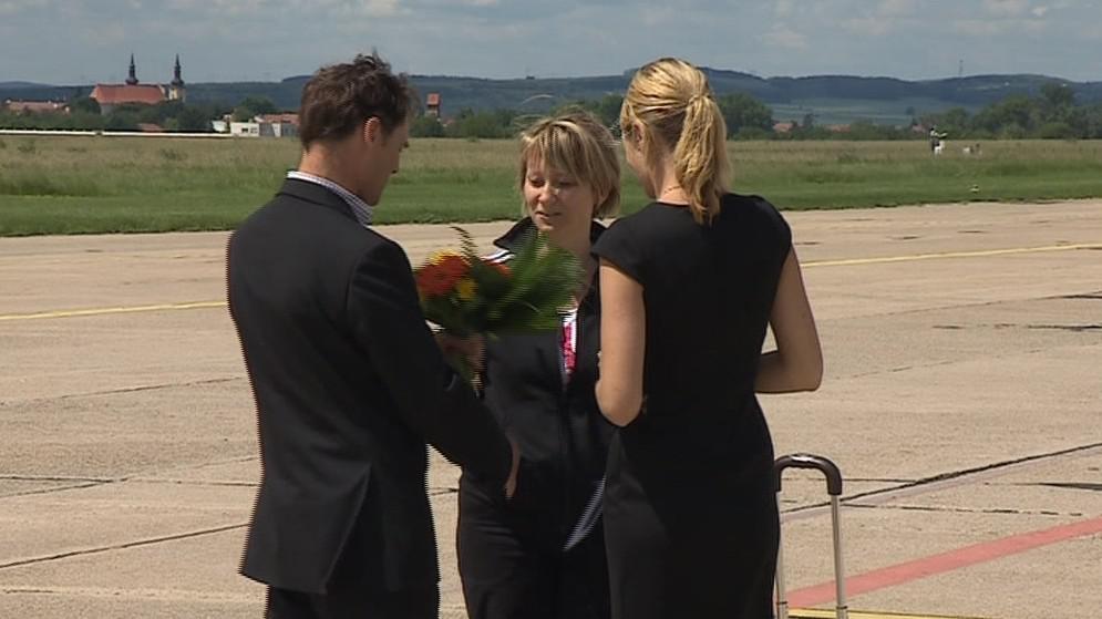 Věra Ryšánková je miliontou cestující Ryanair z Brna