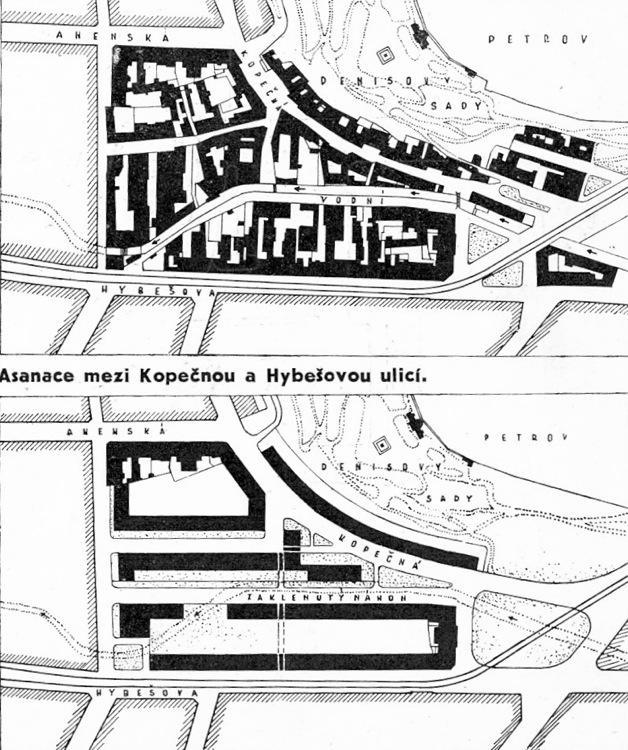 Plán asanace okolí ulice Kopečné
