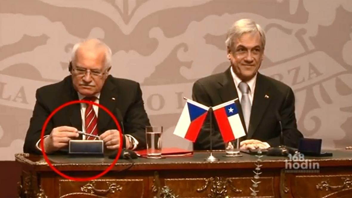 "Václav Klaus a ""chilské pero"""