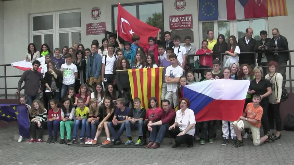 Školáci z Borohrádku na návštěvě v polských Raclawicích