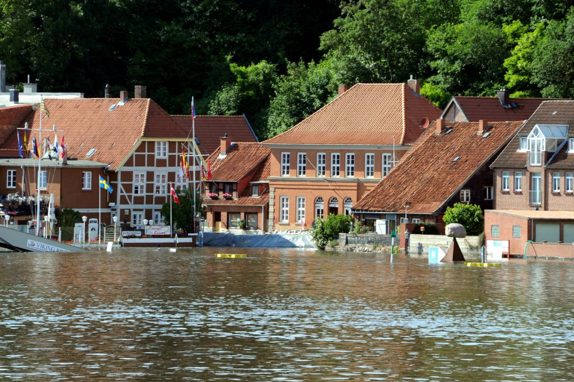 Lauenburg ohrožuje stoupající Labe