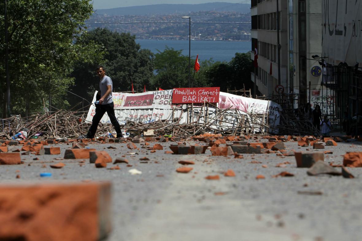 Ulice Istanbulu po protivládních protestech