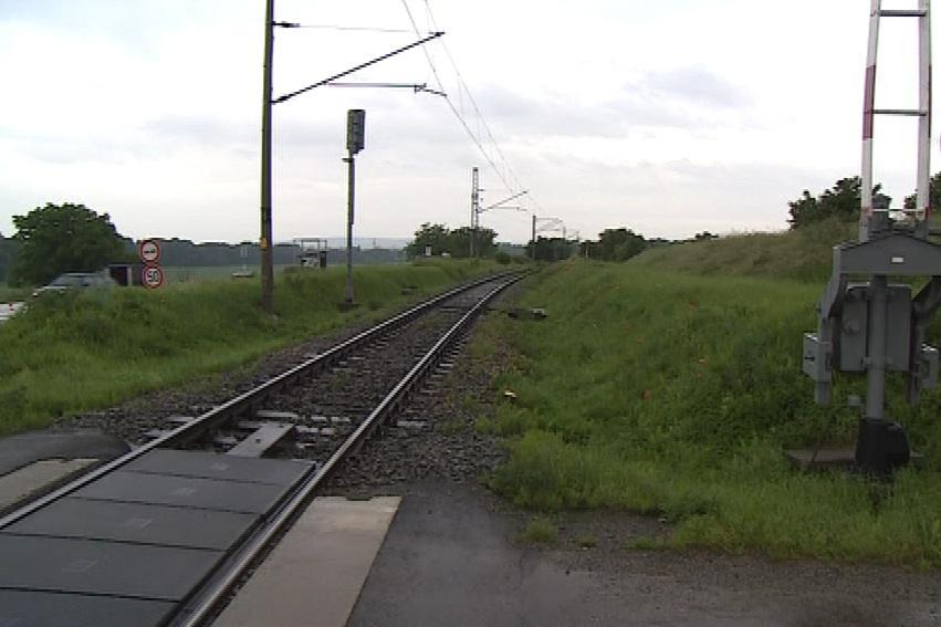 Místo, kde k vykolejení vlaku došlo