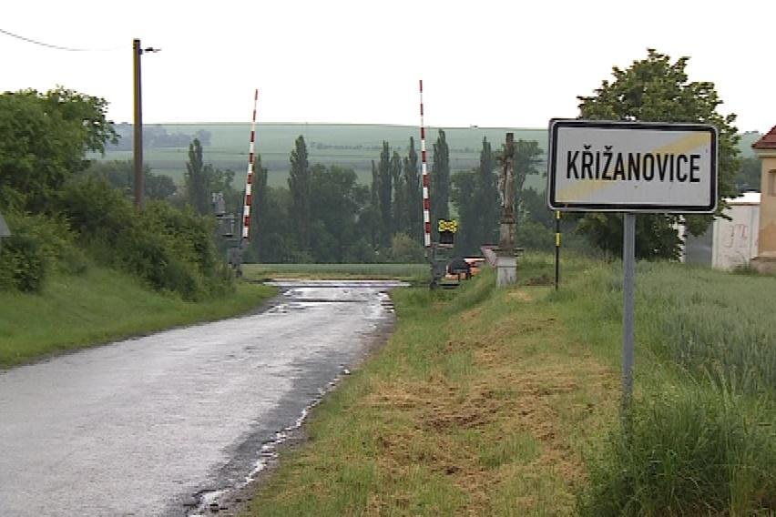 Přejezd u Křižanovic, u kterého k vykolejení došlo