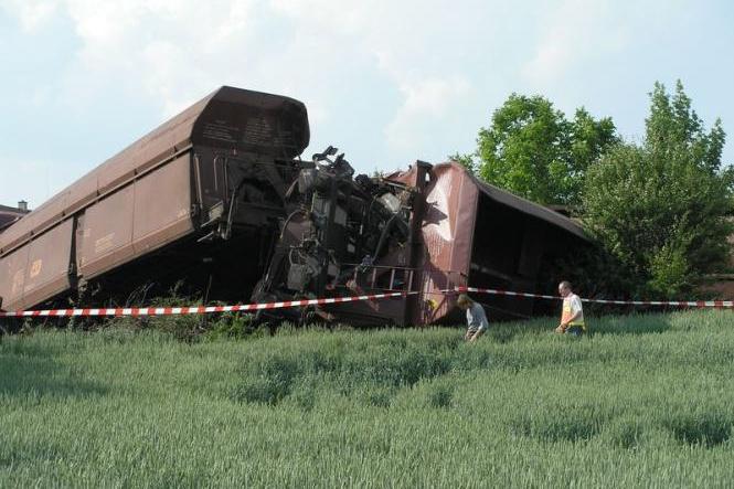 Vykolejení vlaku u Křižanovic