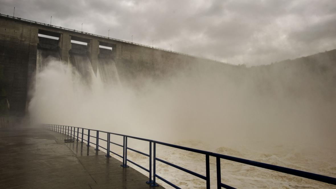 Voda odtékající z Orlíka