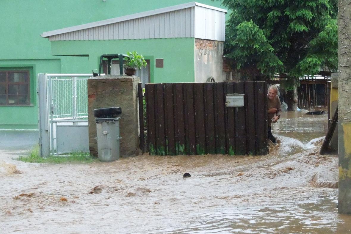 Blesková povodeň v Lubenci