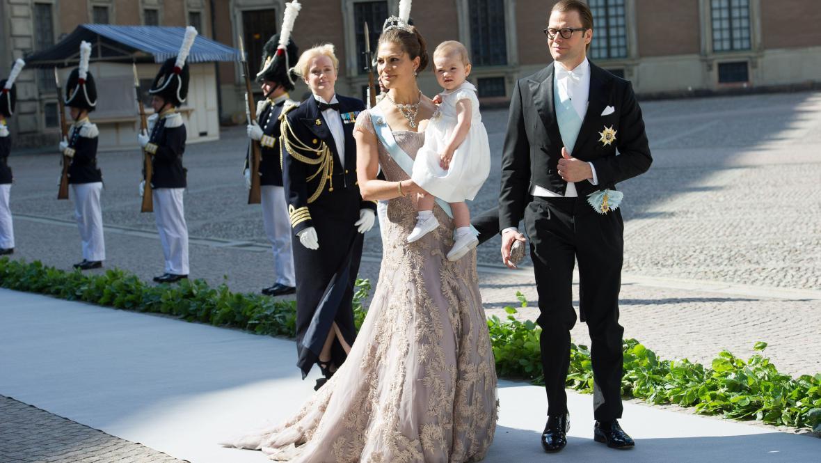 Korunní princezna Viktorie s princem Danielem