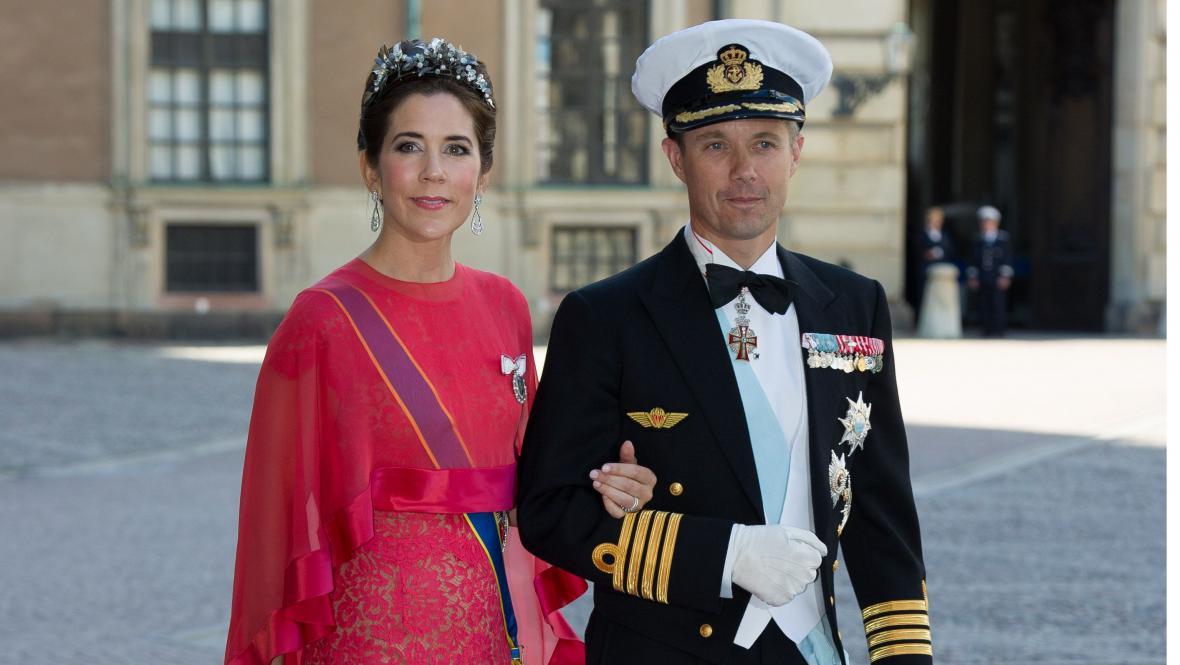 Dánský korunní princ Frederik a dánská korunní princezna Mary