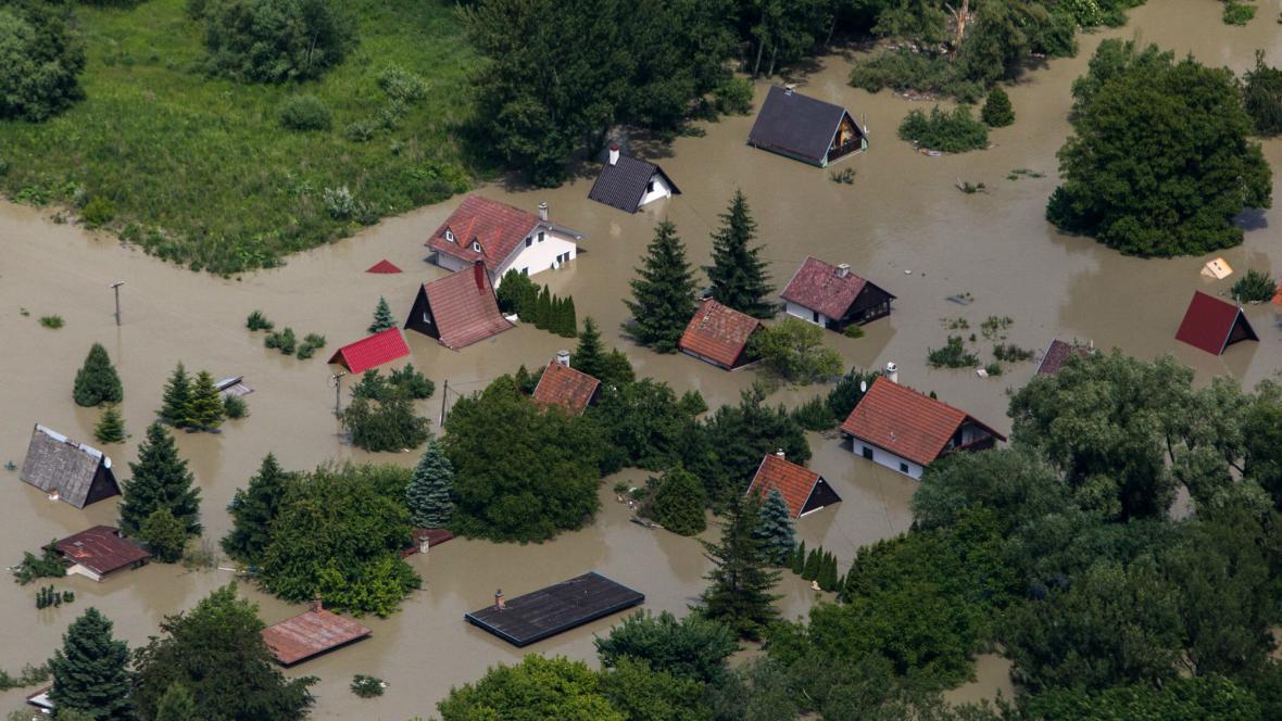 Zaplavená část Bratislavy