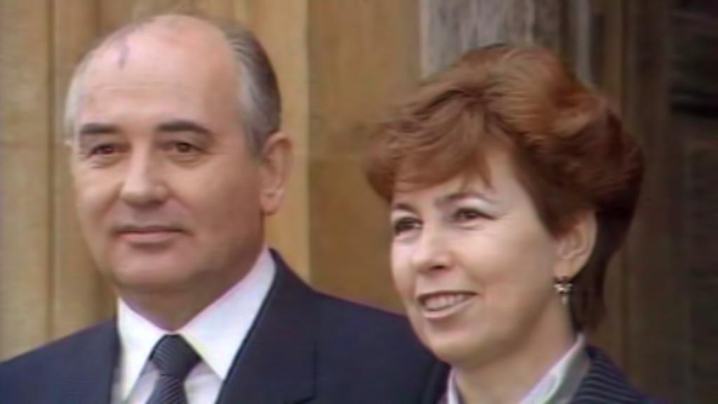 Michail Gorbačov s manželkou Raisou