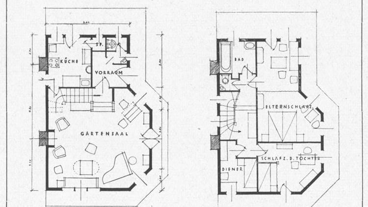 Plány zahradního domku pro Samuela Berana