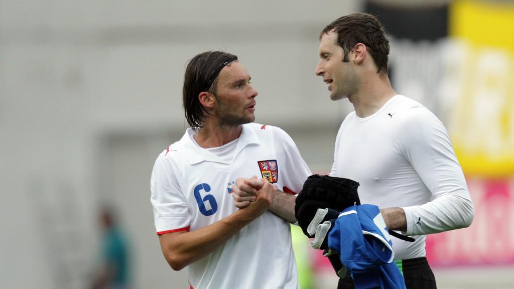 Marek Jankulovski s Petrem Čechem
