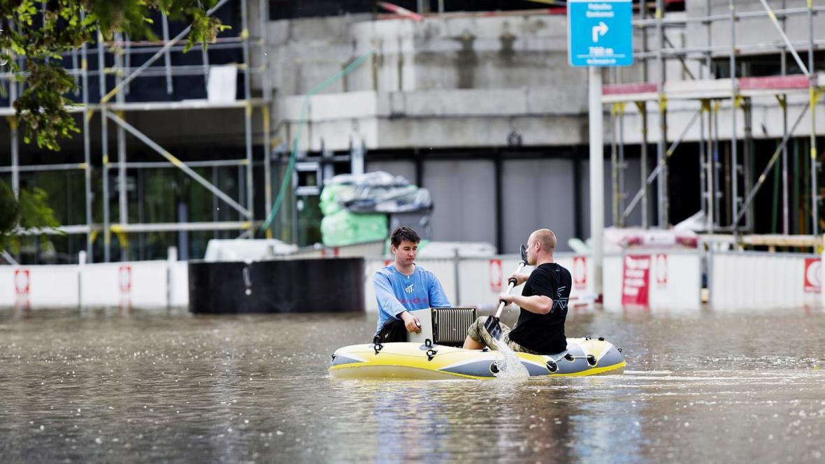 Zaplavené byty v libeňském Docku