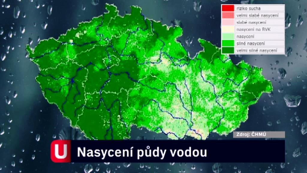Nasycení půdy vodou (6. červen)