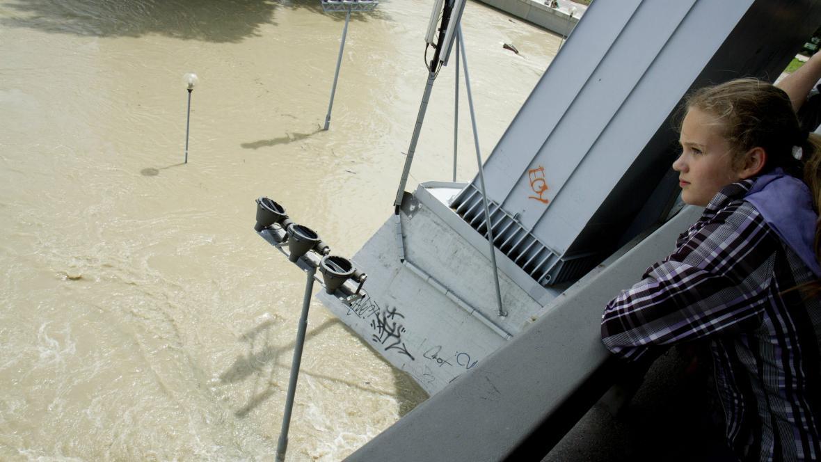Rozvodněný Dunaj v Bratislavě