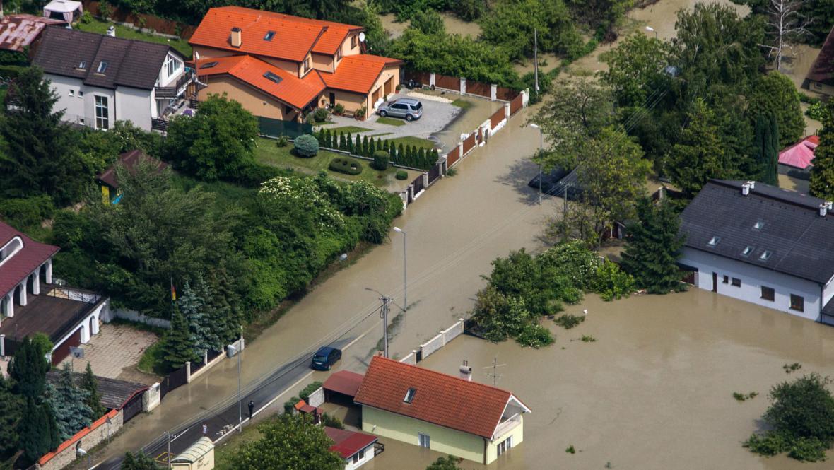 Zaplavené části Bratislavy