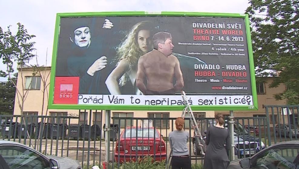 Upravený billboard Divadelního světa