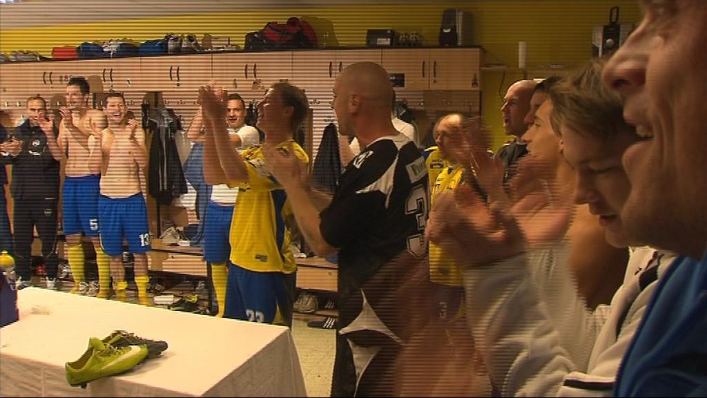 Oslavy v kabině