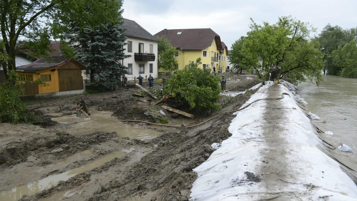 Následky povodní v Rakousku