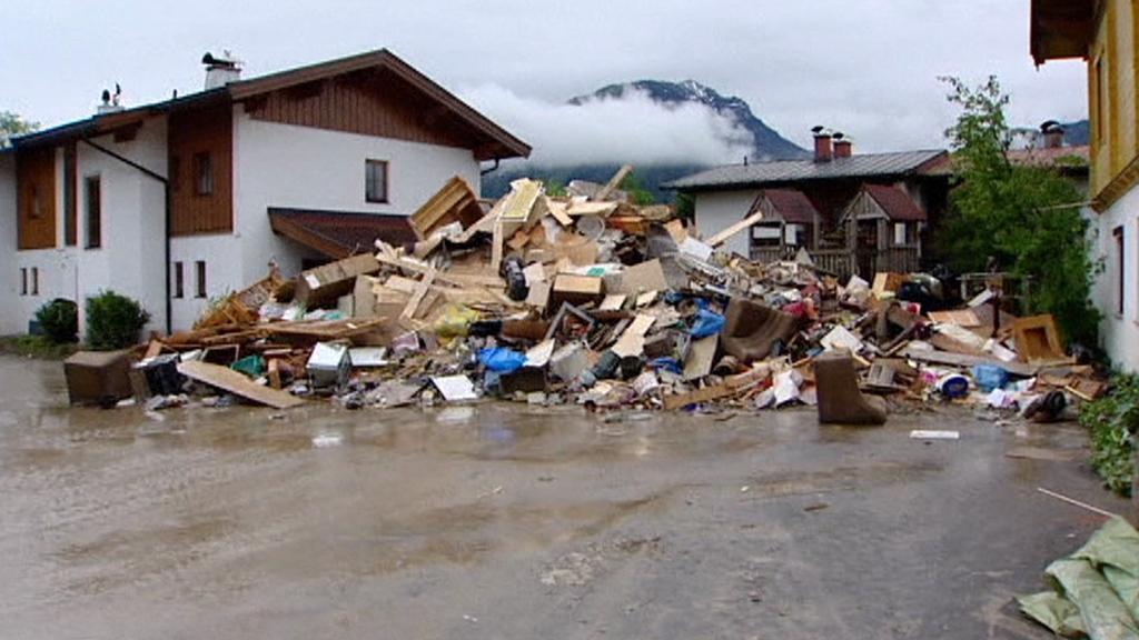 Následky záplav v Rakousku