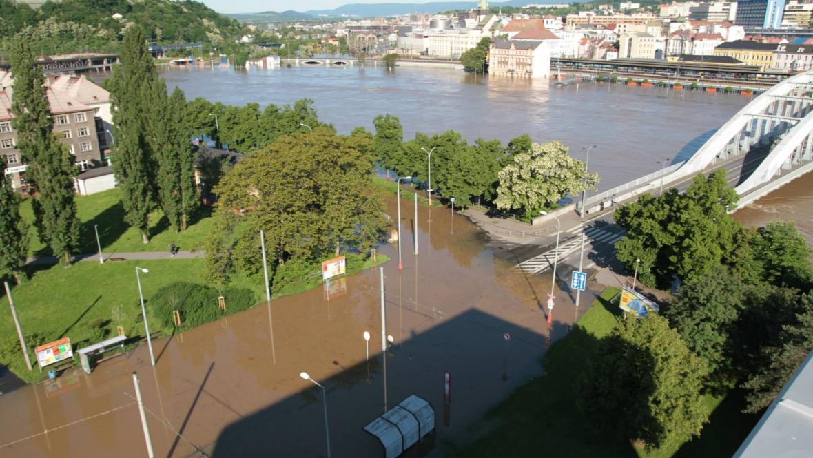 Zatopené Ústí nad Labem
